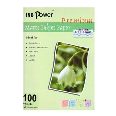 PAPEL INK POWER A4 MATE 110 GRS X 100 HOJAS