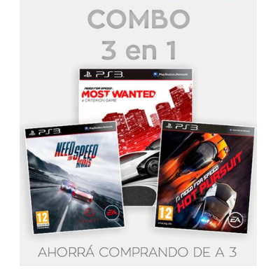 PS3 JUEGO - COMBO NEED FOR SPEED
